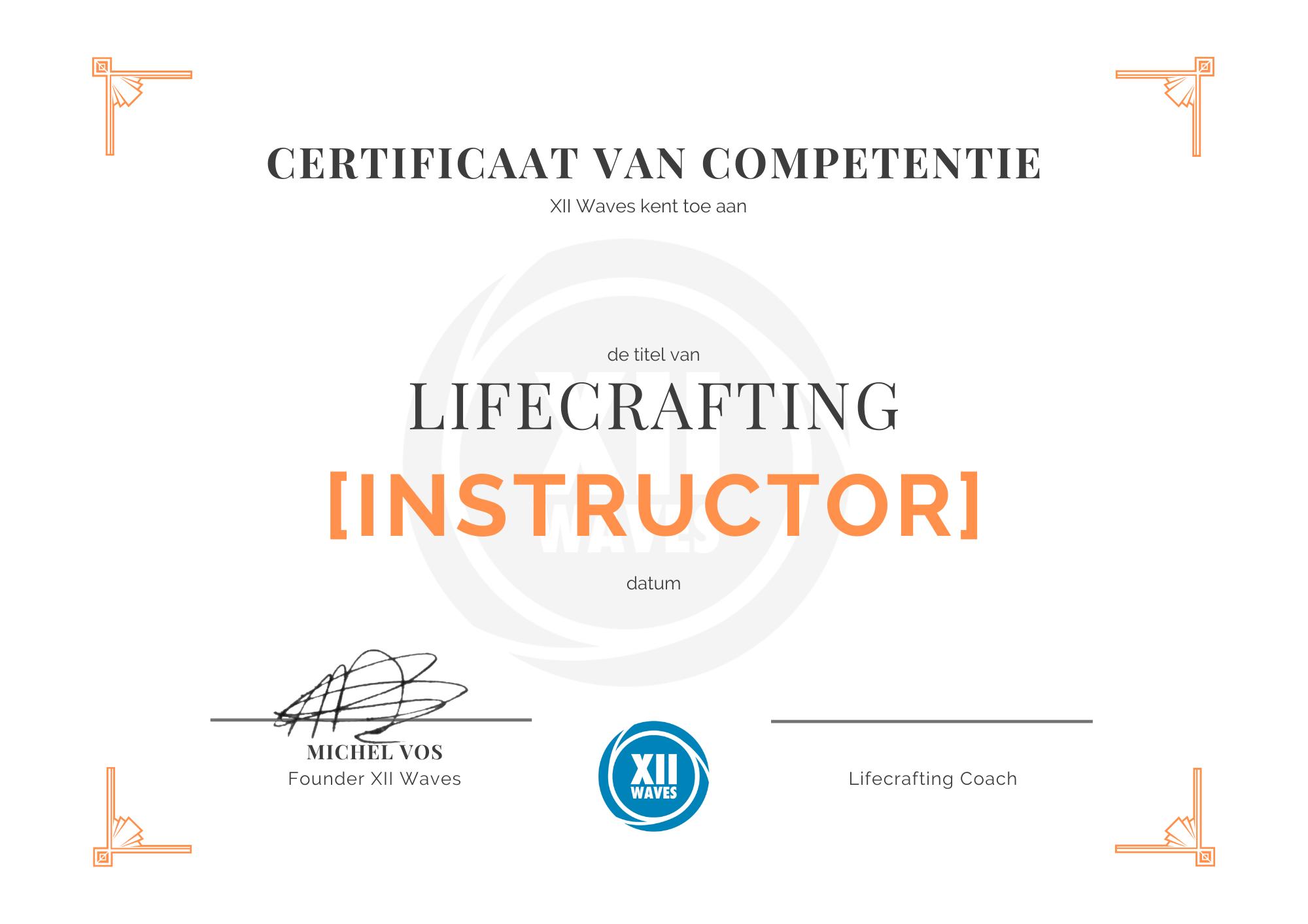 llifecrafting instructor