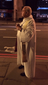 The Vicar who hailed a cab for us at 1:30am.