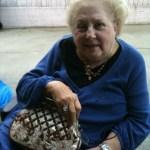 A lady always carries a good handbag.