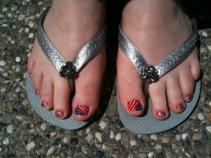 painted toes & flip flop glory