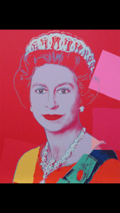 Andy Warhol's take on Queen Elizabeth's Silver Jubilee