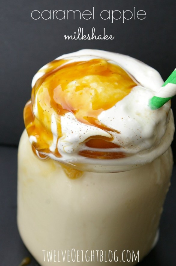 caramel apple milkshake 1