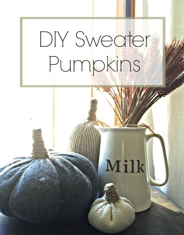 Diy Sweater Pumpkins Twelve On Main