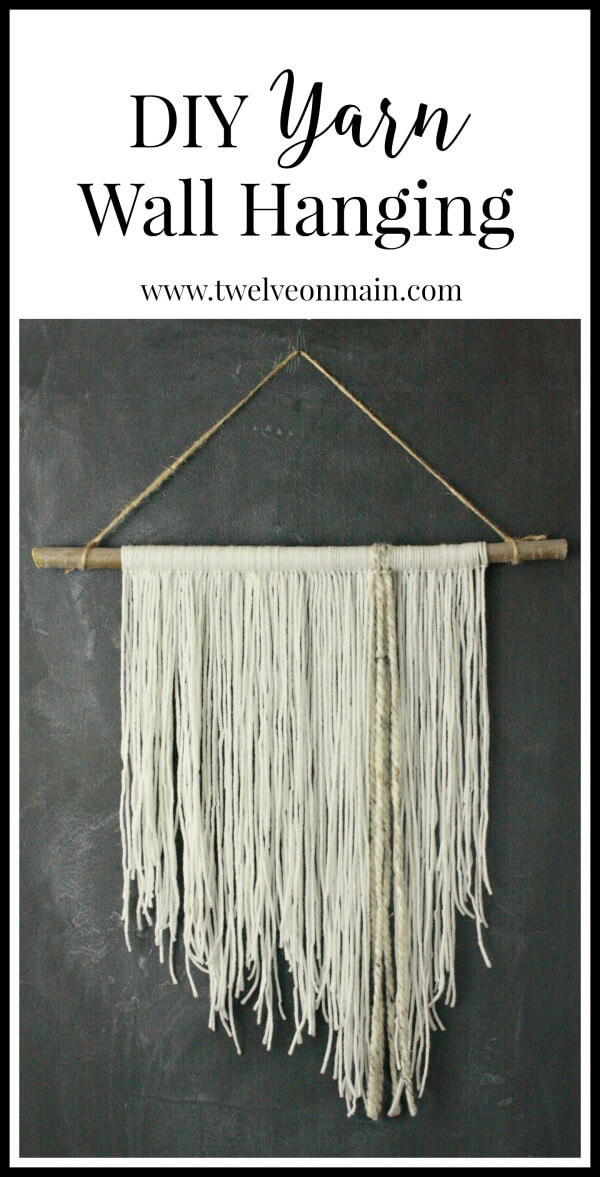 DIY yarn wall hanging. This is so easy to make, you might want to ...