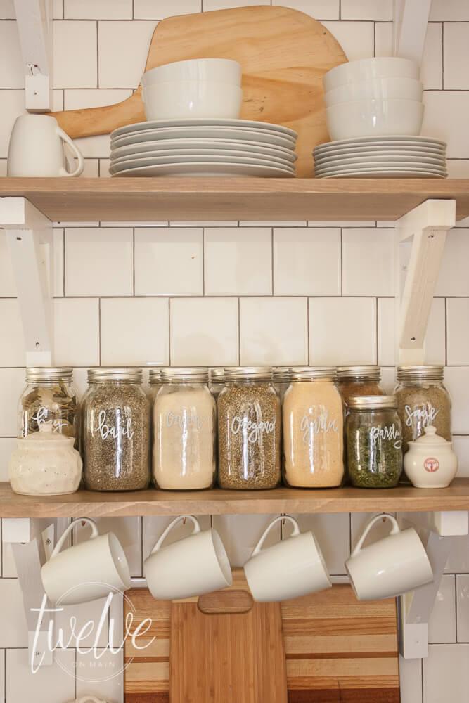 mason jar spice storage pantry