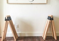 How to Make the Easiest Wooden Sawhorse Table - Twelve On Main