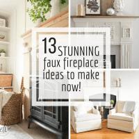 13 Stunning DIY Fake Fireplace Ideas to Make Now! - Twelve ...