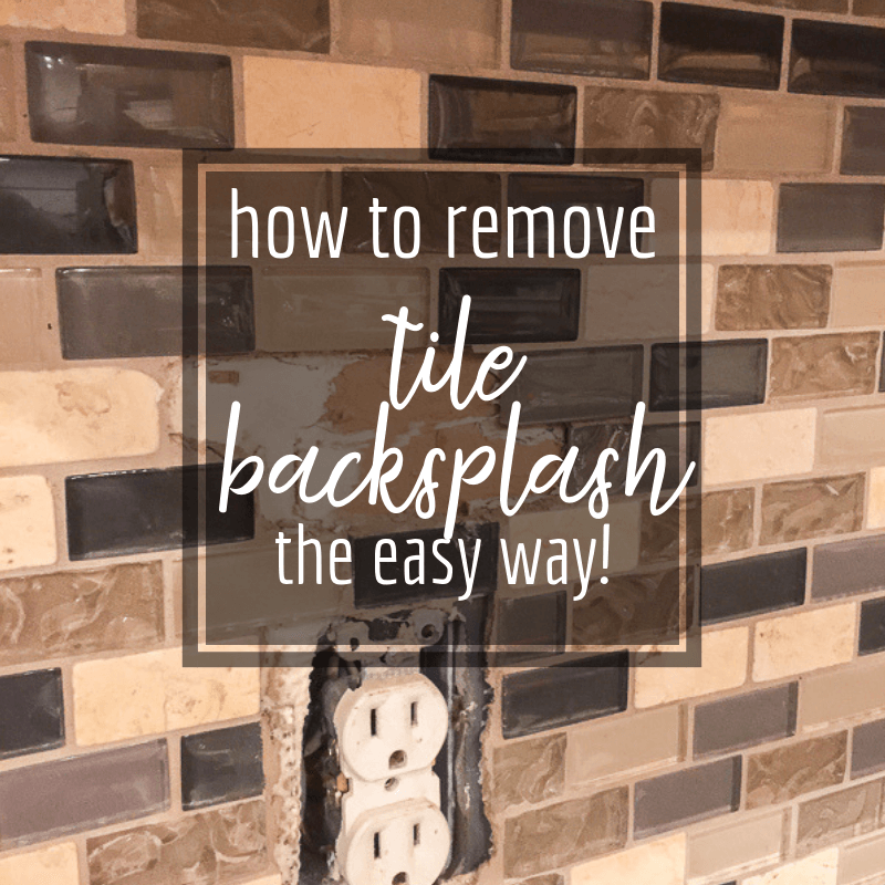 how to remove tile backsplash without