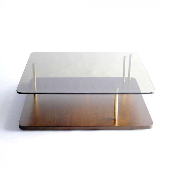 points of interest coffee table square