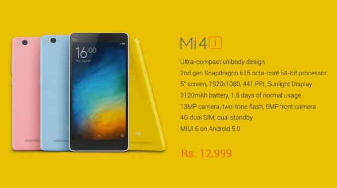 Mi4i specs with price