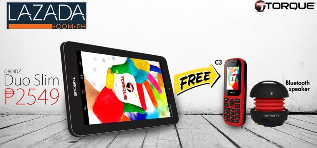 The Torque Droidz Duo Slim 8GB tablet is now available on Lazada
