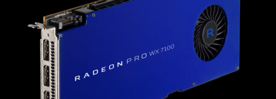 AMD Announces Availability of Radeon Pro WX Series Graphics Cards
