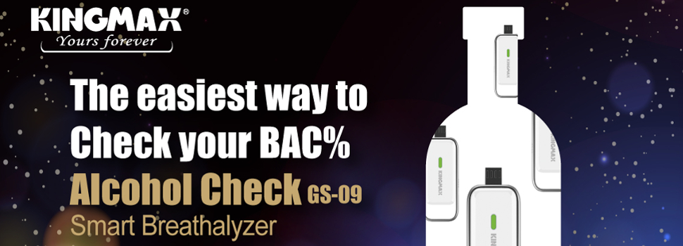 KINGMAX Launches Alcohol Check, the World's Smallest Breathalyzer