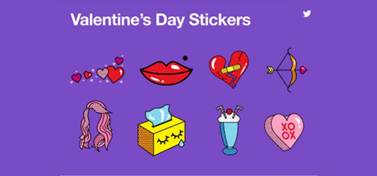 Twitter Releases Special Stickers and #LoveHappens Emoji to Celebrate Valentine's Day