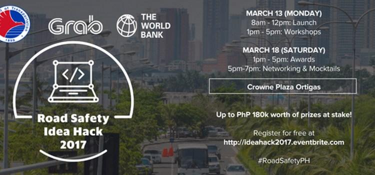 Grab, DOTr, World Bank, partner for Road Safety Idea Hack 2017