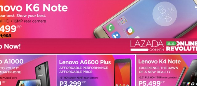 Get discounts on select Lenovo and Moto phones with Lazada's Online Revolution Sale