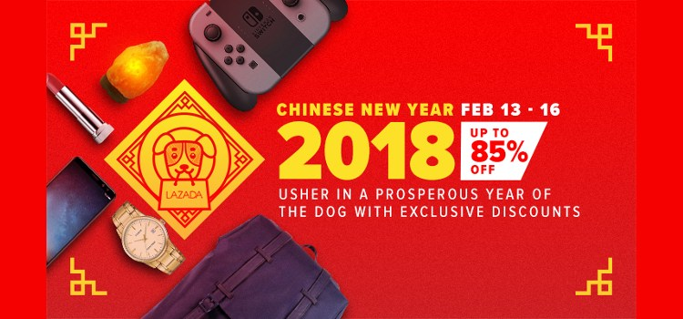 Lazada Philippines' Chinese New Year Sale set from February 13 – 16