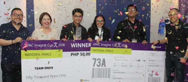 Team Onyx wins Imagine Cup 2018 PH Finals