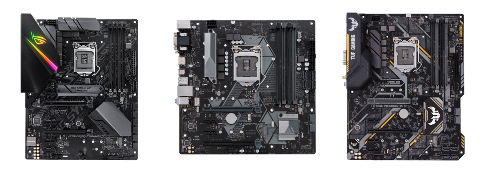 ASUS Announces H370, B360 and H310 Series Motherboards