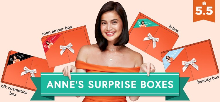 "Anne Curtis Celebrates 5.5 Shopee Super Sale With Exclusive ""Surprise Boxes"" Worth Up to ₱1,500"