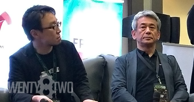 Toshifumi Nabeshima and Shinji Hashimoto at the ESGS 2018 Day 2 panel