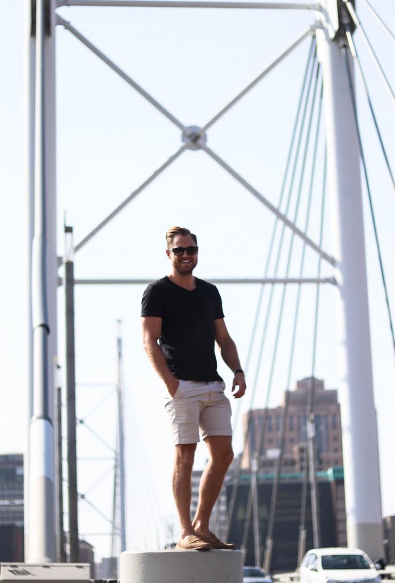Twenty First Century Gent on Nelson Mandela Bridge