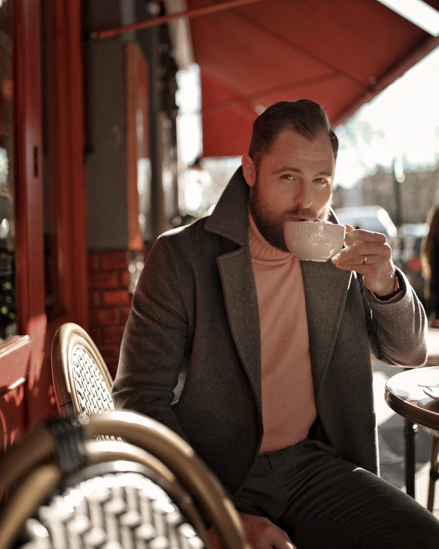 River Island Grey Wrap Coat Zara Pink Roll Neck Menswear Twenty First Century Gent