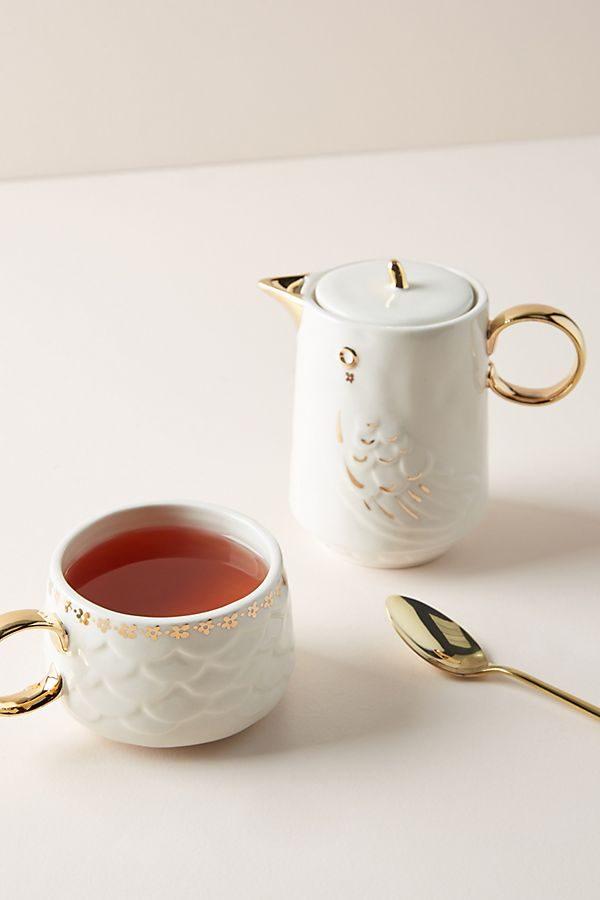 Anthropologie Lovebirds Tea For One Set