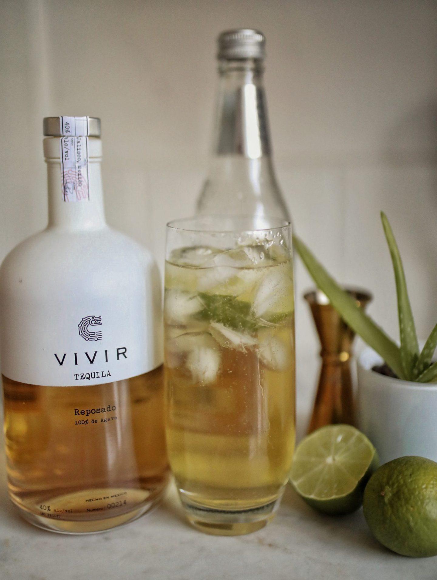 VIVIR Reposado Tequila Ginger Ale