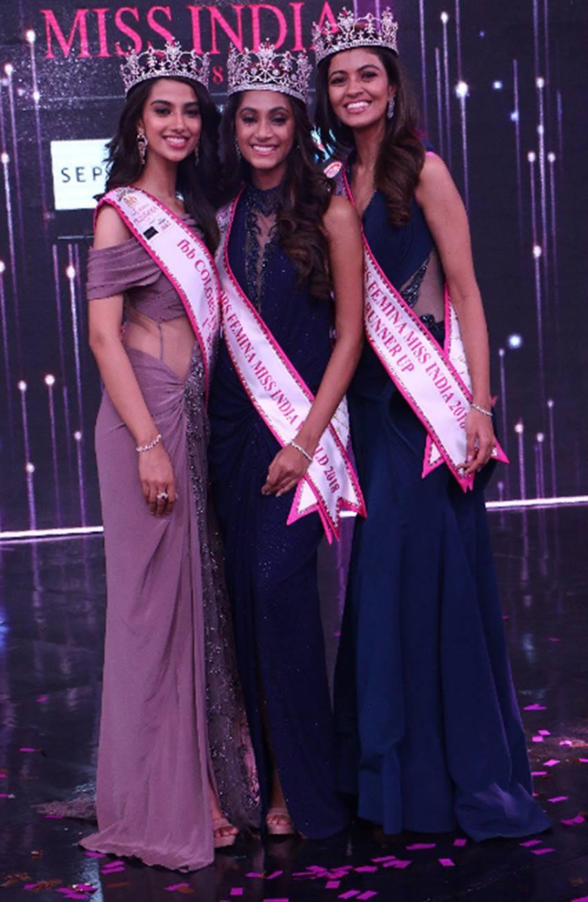 anukreethy vas crowned as femina miss india 2018