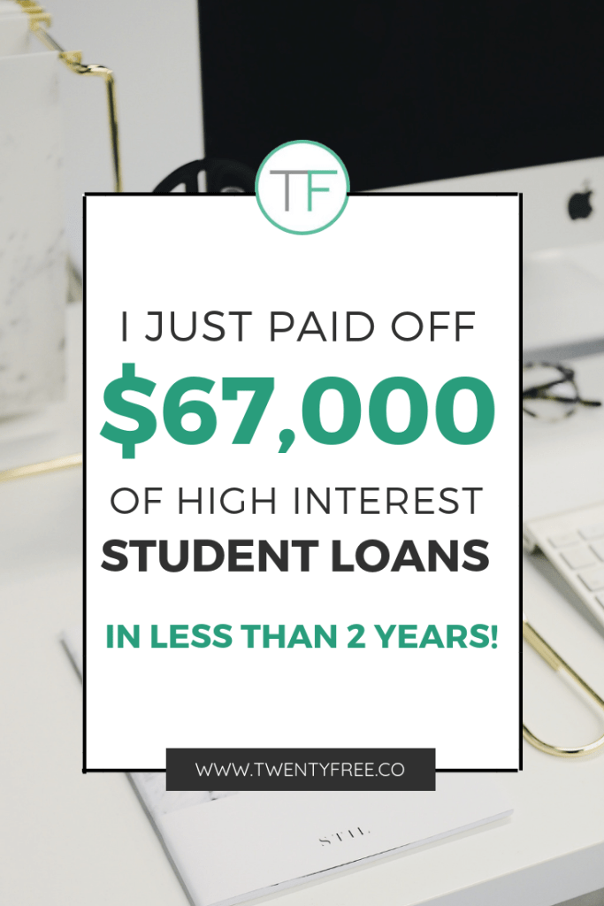 how to pay off student loans in 2 years