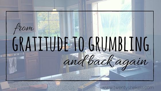 From gratitudeto grumbling