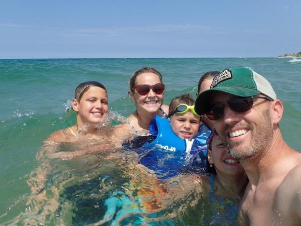swim Lake Michigan