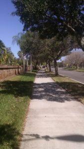 Sidewalk pathway