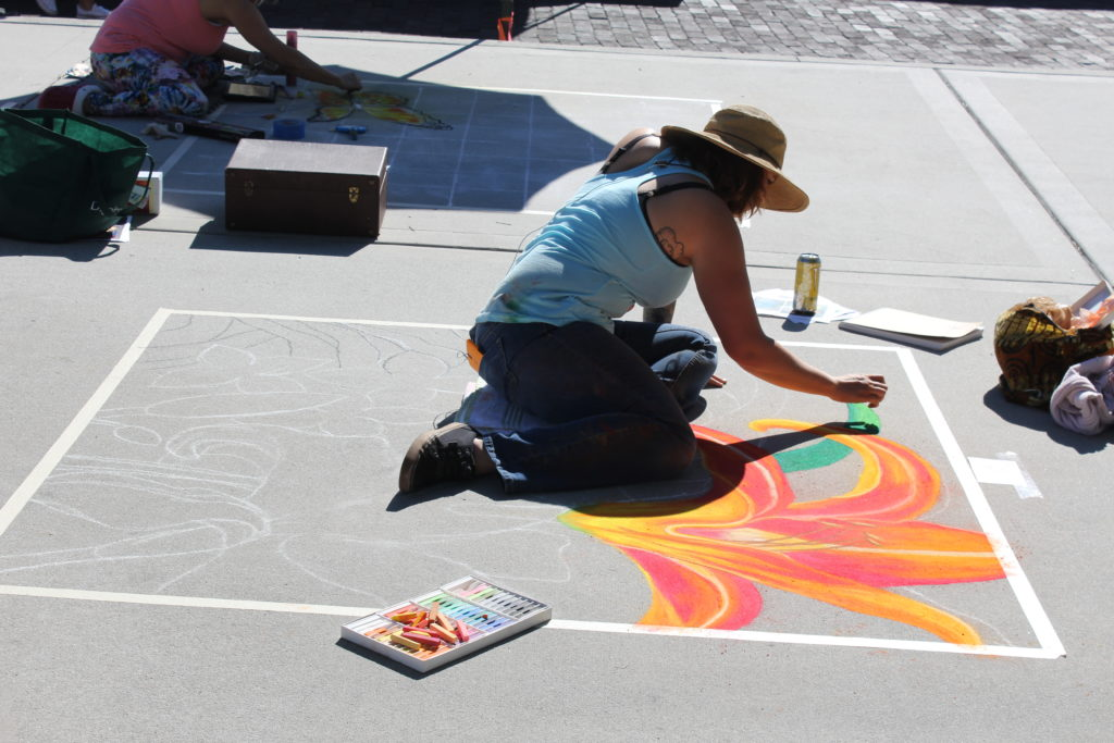 Winter Garden Chalk Art Spring Fever