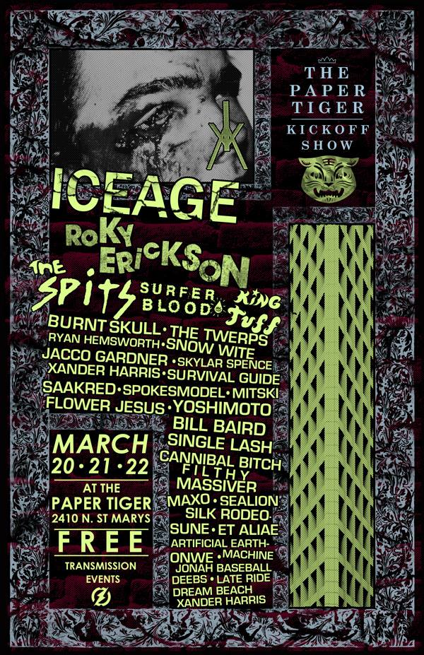 Paper Tiger Kick Off Show Flyer