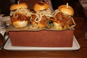 Whiskey Cake, Three Little Pigs sliders