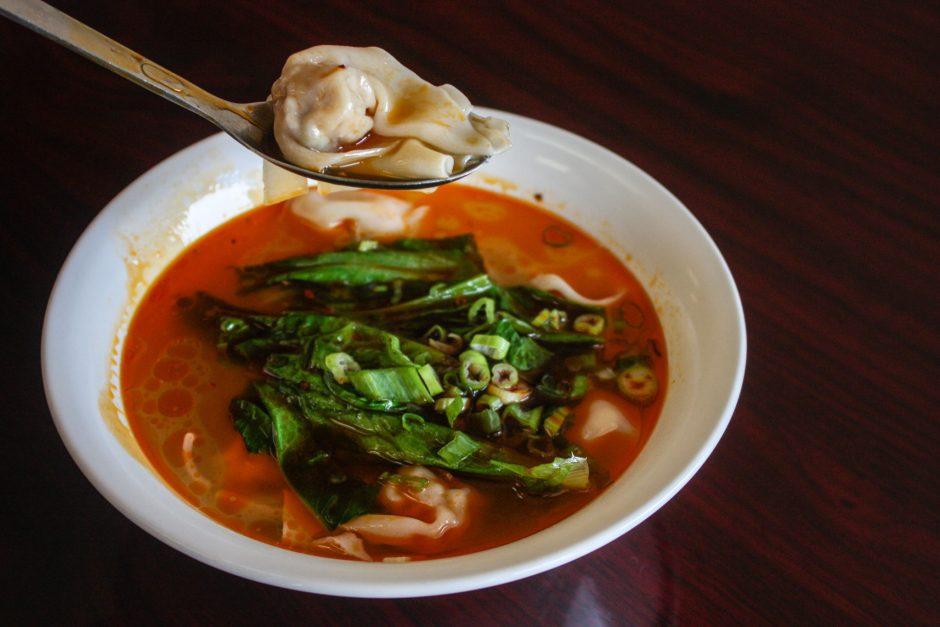 Sichuan dumplings