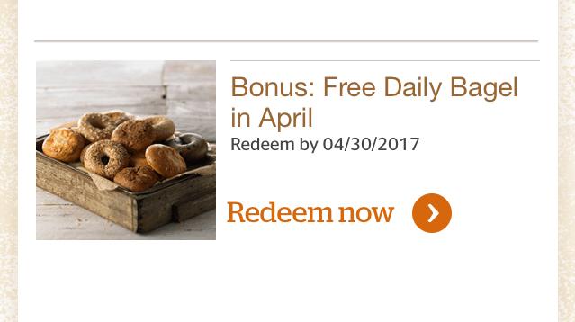 MyPanera Free Daily Bagel