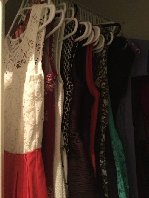 Color Coordinate Clothing In Closet