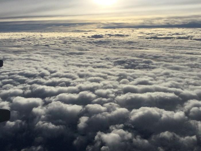 Airplane Clouds Cambodia Trip