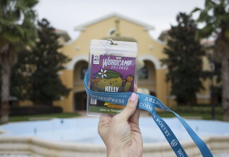WordCamp Orlando 2017 Hero Badge WordPress Conference Code Is Poetry