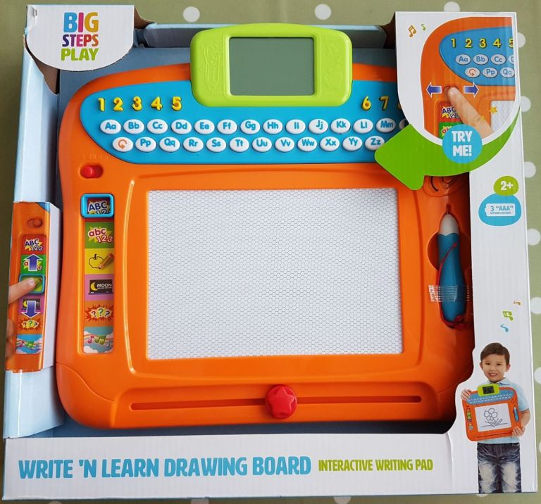 Smyths Big Steps Play Write 'n' Learn Drawing Board