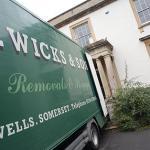 Removals Company Wells Street Glastonbury Taunton Bath T Wicks Green Van