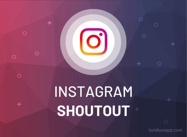 Buy Instagram Shoutout