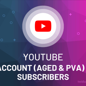 Buy Youtube Account (Aged & PVA) + Subscribers