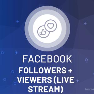 Buy Facebook Followers & Views (Live Stream)