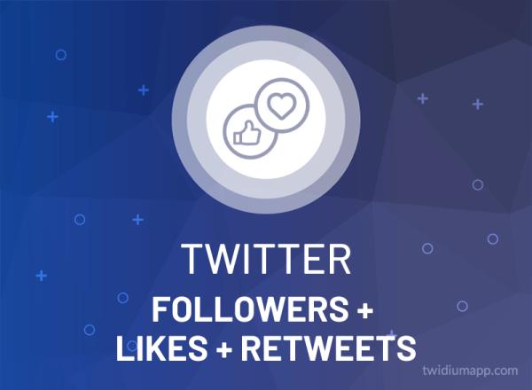 Buy Twitter Followers + Likes + Retweets