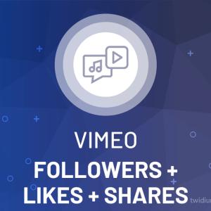 Buy Vimeo Followers + Likes + Shares