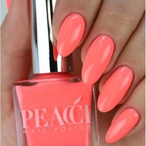 Peacci Nail Polish Sunshine Coral 10ml